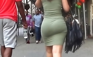Candid Fat Ass In Green Dress