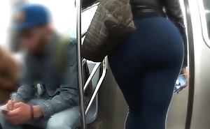 Candid Fat Ass On The Train