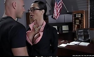 Milf was hard fucking on office desk 25