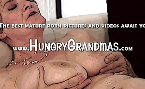 Hungry granny shower sex