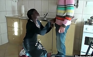 Black maid fucked by boss