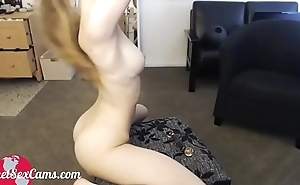 Camgirl dressed up as maid masturbating I Watch her live at PlanetSexCams.com