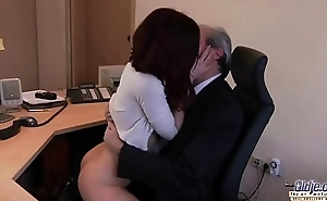 Old Young Porn My Sister Fucked Her Boss in the office and swallowed cum