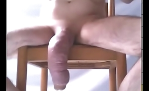 Big swollen dick hangs low in selfshot video - penis pumping