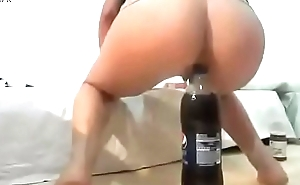 Huge bottle insert on torn ass skin
