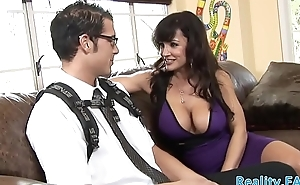 Busty milf seduces a younger cock