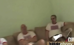 Naughty black wife gang banged by white friends 6