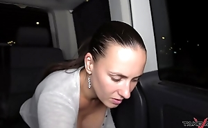 Night party in driving van with famous pornstars Mea Melone &amp_ Wendy Moon