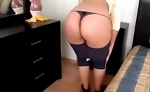My wife in thong 4