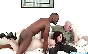 Redhead milf cuckolds her shocked husband