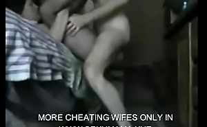 hot cheating wife got cought on spy camera while hubby work at the office