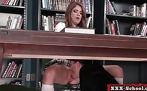 Big tit teacher gets her boobs fucked in classroom 19