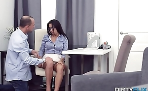 Dirty Flix - Nerdy chick Chanel Lux anally prepared