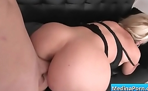 Busty mom sucking and fucking big cock 13