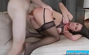 Busty mom sucking and fucking big cock 16