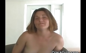 Brunette Crack Whore Sucking Dick With Small Cumshot Point Of View