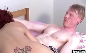 Big boobs red hair shemale anal pounded