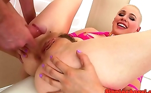 Glamorous beauty anally riding stiff cock