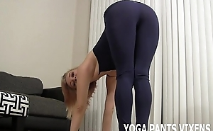These tight black yoga pants are making me kind of horny JOI