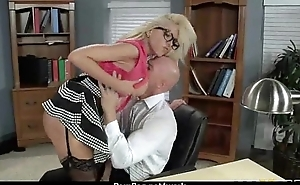 Submissive office busty assistant finally fucks her boss 25