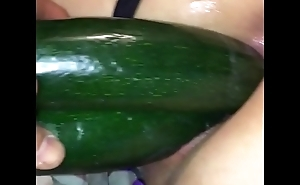 The best fisting ever  double cucumber and big eggplant